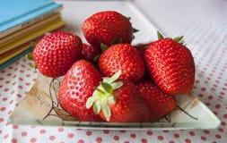 Verse zoete aardbeien Stock Fotografie