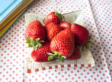 Verse zoete aardbeien Stock Foto