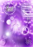 Verseau astrologique de signes Images libres de droits