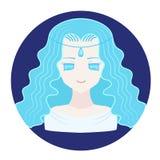 Verseau d'icône de zodiaque d'horoscope Photographie stock libre de droits