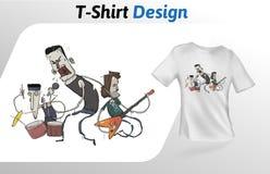 Versehen Sie das Schaukeln heraus auf Stadium, T-Shirt Druck mit einem Band Spott herauf T-Shirt Designschablone Vektorschablone, Lizenzfreies Stockfoto