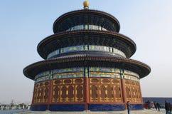 Versehen Sie und die eligious Gebäude Peking China Tempels Himmelstempels Tiantan Daoist mit einem Gatter Lizenzfreie Stockfotografie