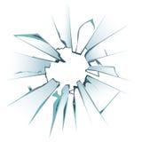 Versehentlich gebrochene bereifte Fensterscheibe oder Vektorillustration Lizenzfreie Stockfotografie