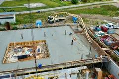 versement de chantier de construction Image libre de droits