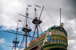 Versenden Sie das Amsterdam von Dutch East India Company Amsterdam, die Niederlande stockbilder