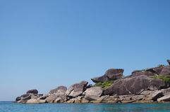 Versenden Sie Formstein an den berühmten Ferien in Krabi, Thailand Lizenzfreie Stockbilder