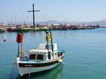 Schiff im Dock Stockbild
