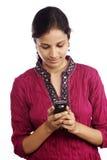 Versenden von SMS-Nachrichten Stockbild