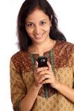 Versenden von SMS-Nachrichten Stockfoto