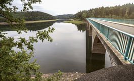 Versetalsperre dam germany. The versetalsperre dam in germany Stock Image