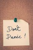 Versetzen Sie nicht in Panik Stockbilder
