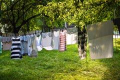 Versheids droge kleren Stock Foto