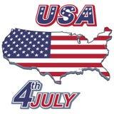 Versión americana dos del cartel del Día de la Independencia Imagenes de archivo