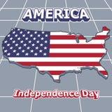 Versión americana una del cartel del Día de la Independencia Fotos de archivo