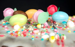Versión del dulce de Casatiello Imagenes de archivo