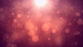 Versión del rojo de la difusión de las partículas metrajes