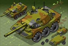 Versión isométrica del tanque dos libre illustration