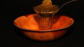 Versi Honey Into una ciotola 2 stock footage