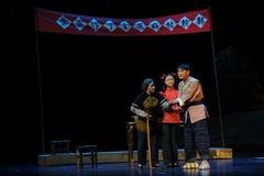 Versichern Sie der Leute Jiangxi-Oper eine Laufgewichtswaage Stockfotos