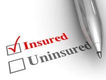 Versichertstatus Stockbild