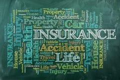 Versicherung chalckboard stockbilder