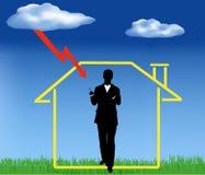 Versicherung des Grundbesitzes Stockbild