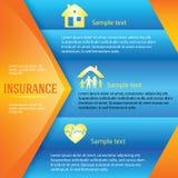 Versicherung-Hintergrund-Seite-Broschüre-Anzeige Lizenzfreies Stockbild