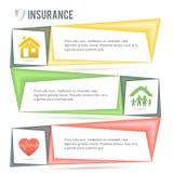 Versicherung-Service-Firma-Darstellung-Schablone Lizenzfreie Stockfotos