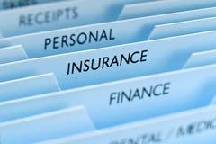 Versicherungs-Datei Lizenzfreie Stockfotos