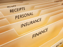 Versicherungs-Datei stockfoto