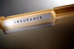 Versicherungs-Datei-Faltblatt Stockbild
