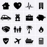 Versicherungs-Ikonen Stockfotos