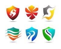 Versicherungs-Sicherheits-Schild Logo Template Stockfotos