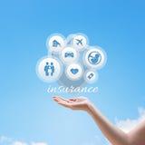 Versicherungsdienstillustration Stockbilder