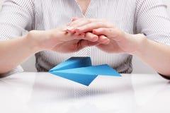 Versicherungsflüge (Konzept) Lizenzfreies Stockbild
