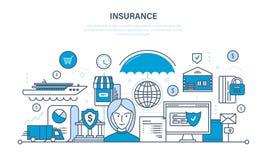 Versicherungsgrundstück und Eigentum, Garantiesicherheit von Finanzablagerungen, Einsparungen Lizenzfreie Stockfotografie