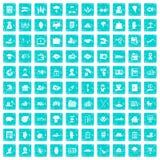 100 Versicherungsikonen stellten Schmutz blau ein Stockfoto