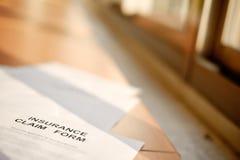 Versicherungsleistungenformular Stockfoto