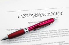 Versicherungspolice Lizenzfreie Stockfotos