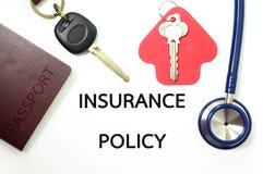 Versicherungspolice für viele Arten Versicherung Lizenzfreie Stockfotografie