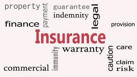 Versicherungswort-Wolkenkonzept auf weißem Hintergrund gesamtlänge lizenzfreie abbildung