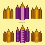 """Versie van de potlood†de """"stad royalty-vrije stock afbeelding"""