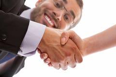 Versiegeln eines Abkommens Lizenzfreie Stockbilder