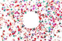 Versieht festlichen Hintergrund mit einem Sternchen lizenzfreie stockfotografie
