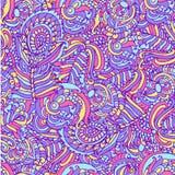 Versieht nahtloser Musterpfau des Hintergrundes Illustration mit Federn Stockfotos