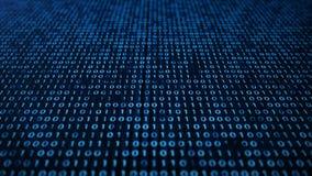 Versieht Sicherheit acces mit binär Code Konzept des binär Code Digital-Zahlen eine und null auf einem blauen Hintergrund mit lizenzfreie abbildung