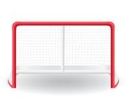 Versieht Tormann für das Spiel von Hockeyvektor illustr mit einem Gatter vektor abbildung