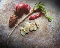 Versier soep van Thailand, Wijnoogst en vaag stock afbeeldingen