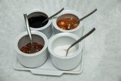 Versier voor de suiker en de azijn van de noedelpeper fishsouce royalty-vrije stock afbeelding