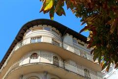 Versierde varanda in meer lugano Italië royalty-vrije stock afbeelding
